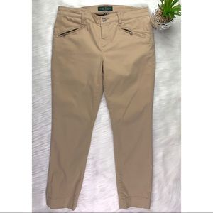 Lauren Jeans Co Ralph Lauren Tan Pants Zipper 8P